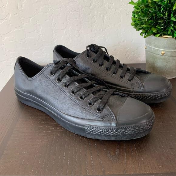 Converse Black Leather Casual Chucks Unisex